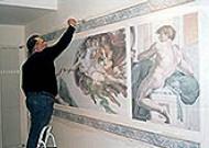 Bemalte Wände